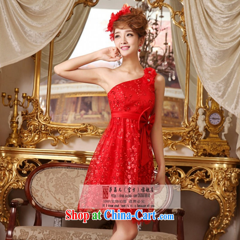 Love, Norman spring 2014 new Korean pregnant women short red single shoulder wedding dress bridal toast L pieced, love so Pang, online shopping