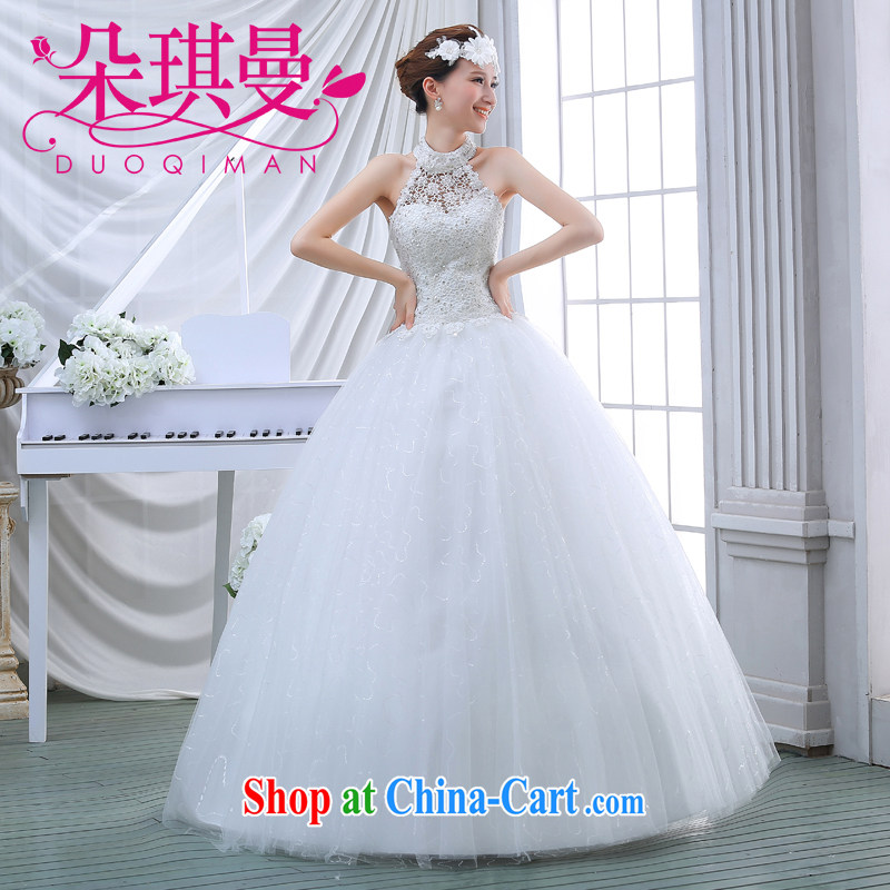 Flower Angel Cayman wedding dresses summer 2014 new Korean-style American dream princess is also wedding Korean version inserts drill autumn and winter with white XXL