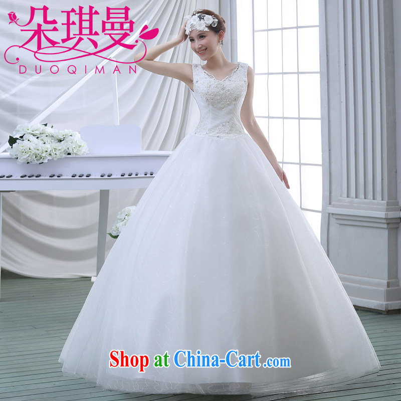 Flower Angel Cayman 2014 spring and summer new upscale double-shoulder with marriages wedding dresses white Korean Princess shaggy dress white M