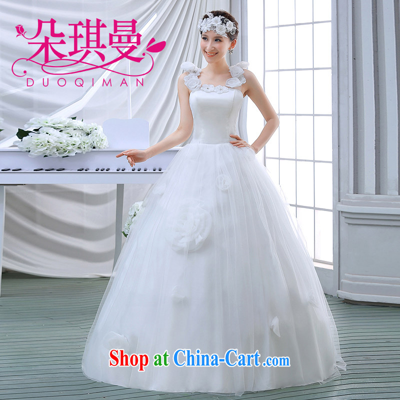 Flower Angel Cayman wedding dresses 2014 Korean sweet Princess double shoulder strap with flowers with strap graphics thin style wedding white have done needs/contact Customer Service