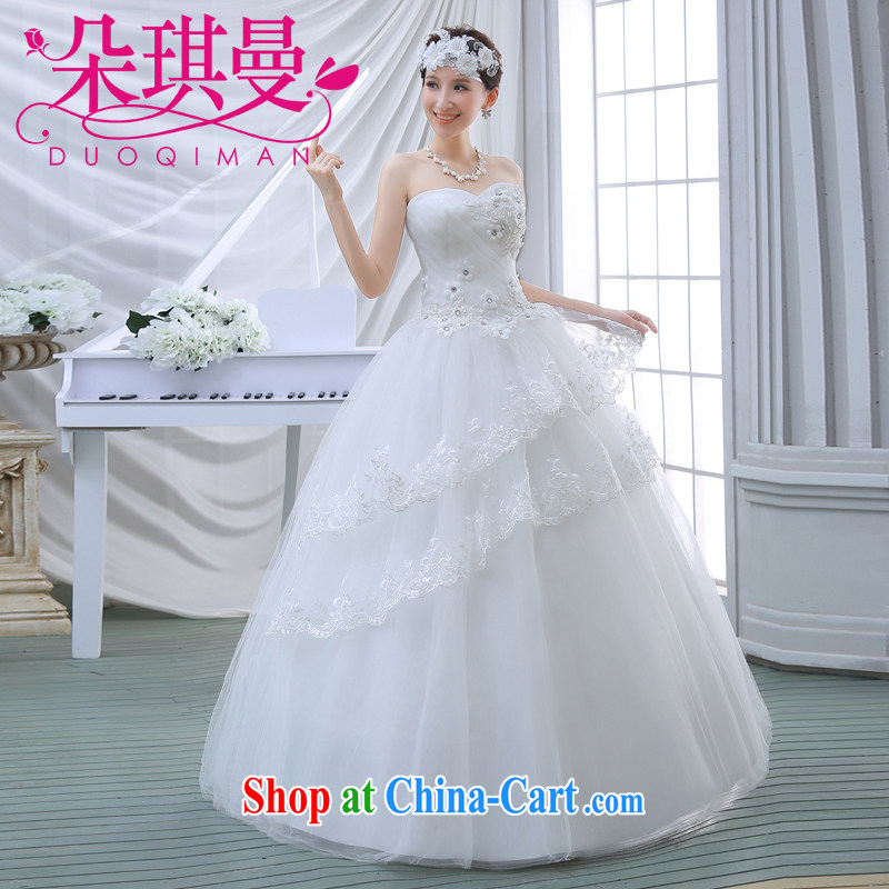 Flower Angel Cayman bridal wedding dresses Korean version 2014 new stylish wedding erase chest small and big, summer simple graphics thin HS erase chest white XXL