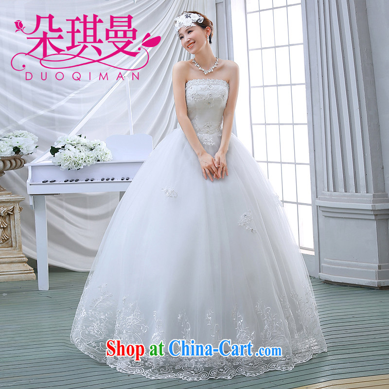Flower Ki Cayman wedding dresses 2014 Lace Embroidery wiped his chest, ladies stylish and simple Princess wedding white XXL