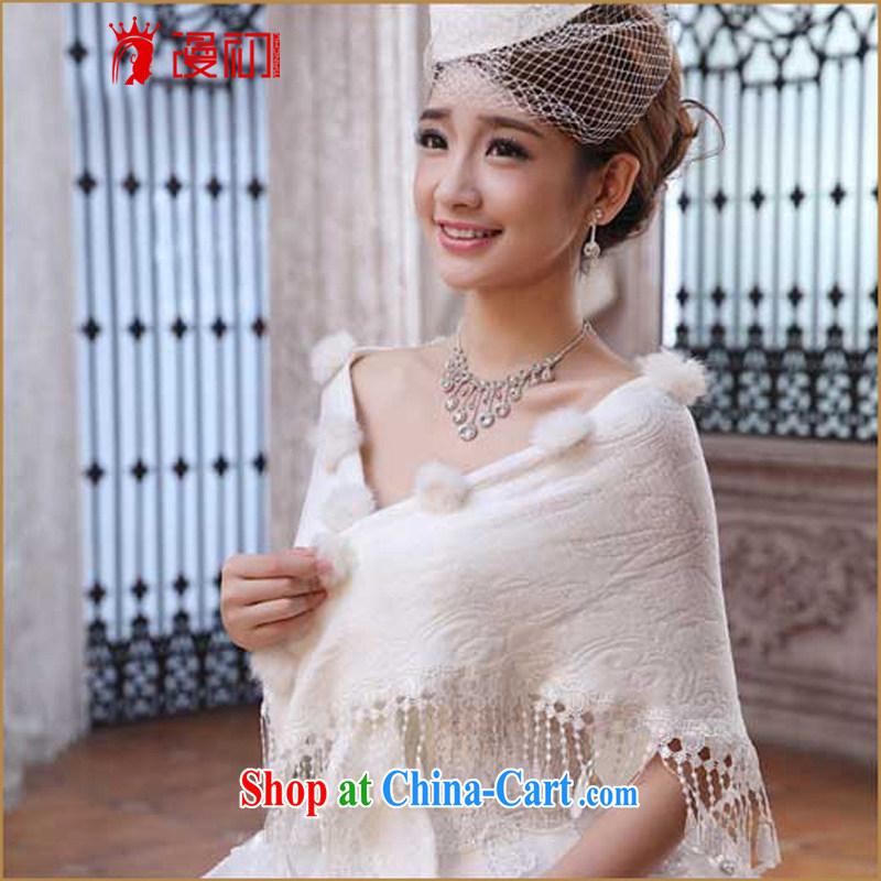 Early definition wedding shawl bridal wedding dress shawl new Korean version warm red shawl white