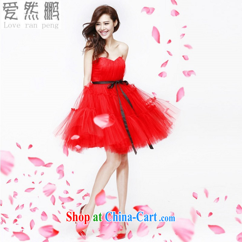 Love so Peng 2014 new high-waist pregnant women dress bride wedding toast clothing purple red in Paragraph length Evening Dress shaggy dress red customers to size will not be returned.