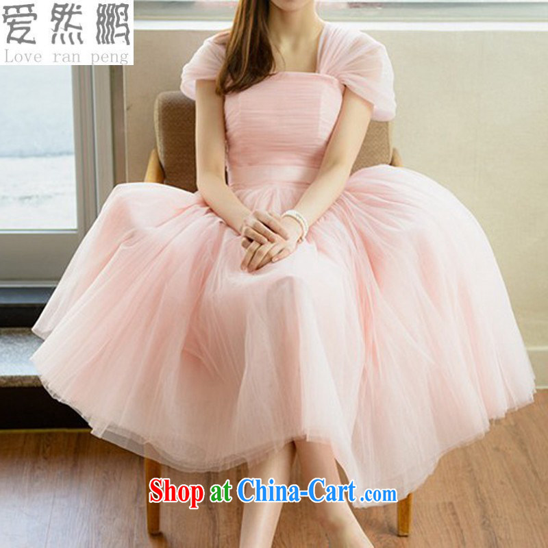 Love so Pang bridesmaid dress Evening Dress small dress short bridesmaid clothing bridesmaid dress shaggy dress sister dress wedding dresses winter customer size will not be returned.