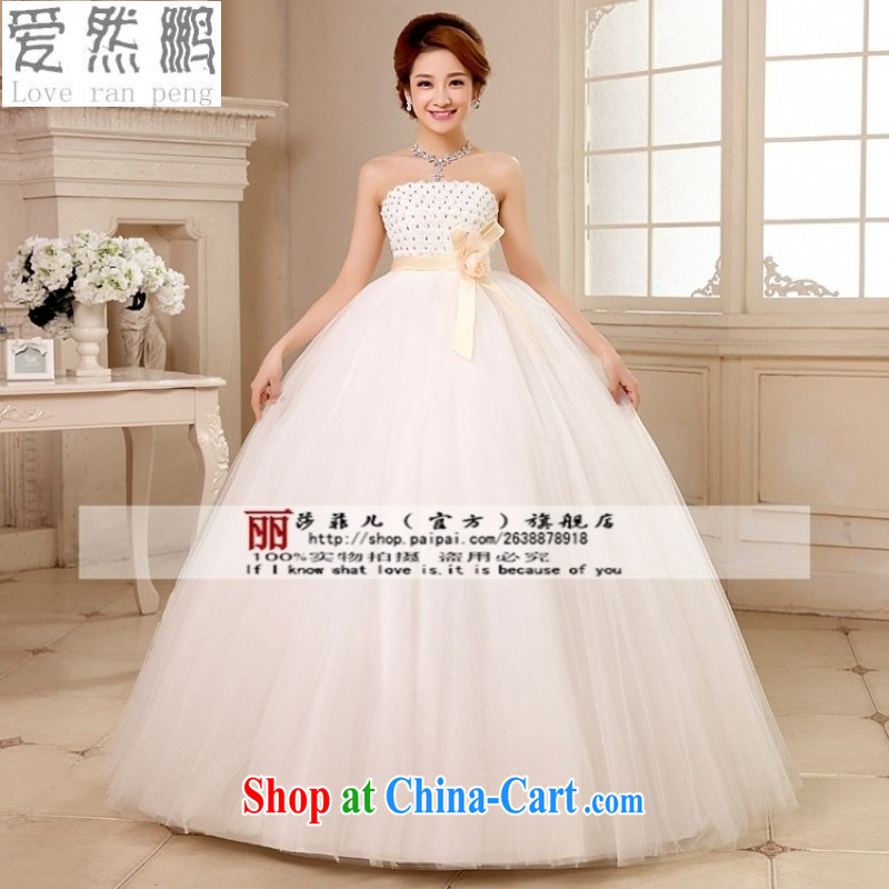 Love so Peng 2014 new Korean high-waist bare chest pregnant women wedding dresses to align with the Code marriage wedding Customer to size up to be returned.