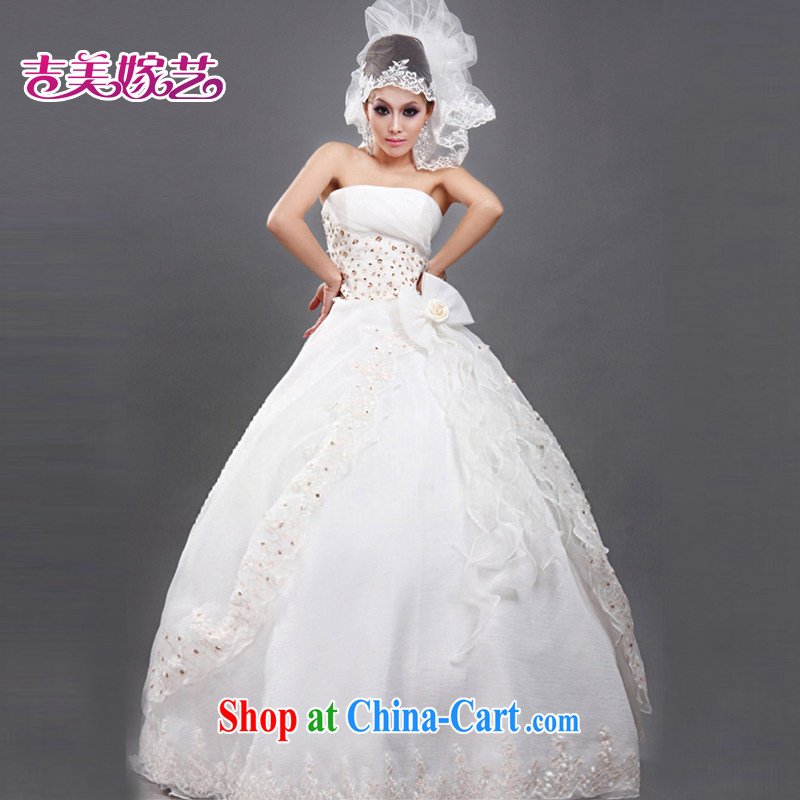 wedding dresses Jimmy married arts 2015 new erase chest Korean Princess dress with HS 066 bridal wedding white XXL