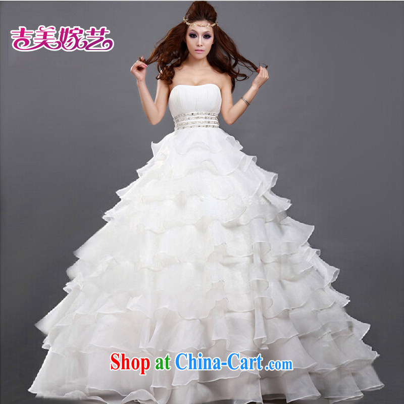 wedding dresses Jimmy married arts 2015 new erase chest Korean Princess skirt the code with HS 182 bridal wedding white XXXL
