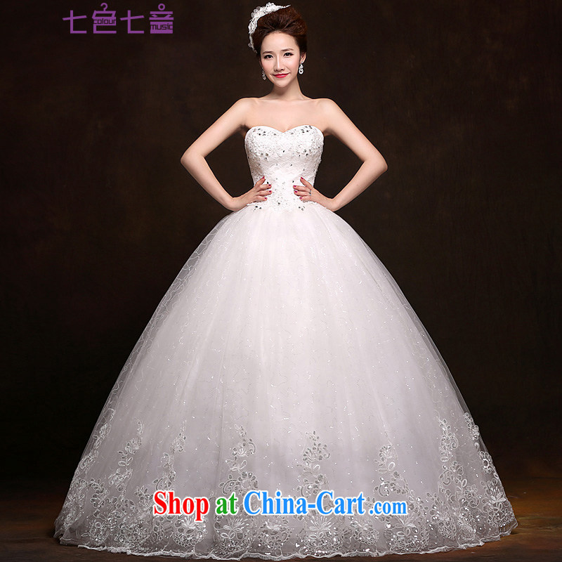 7 color 7 tone Korean version 2015 new bridal wedding dresses beauty graphics thin smears chest wedding band to align paragraph 036 H white tailored _final_