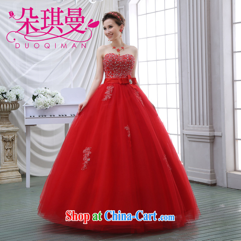 Flower Angel Cayman graphics thin beauty wedding dresses 2014 new parquet drill Korean version Mary Magdalene chest Princess Royal lace with tie wedding XXL