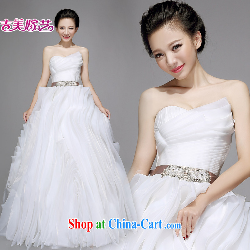 wedding dresses Jimmy married arts 2015 new erase chest vera wang Wang Wei HT 7563 bridal wedding Ivory with XXL.