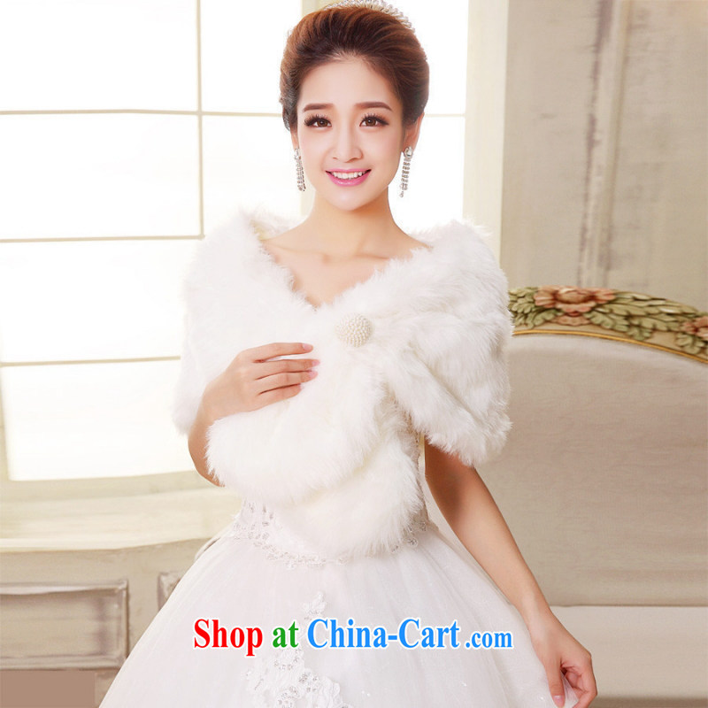 Bridal wedding dresses red hair shawl Long Hair Loss special promotions fur hair warm winter shawl new white
