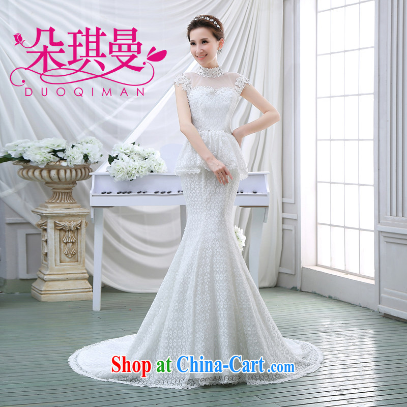 Flower Angel Cayman upscale wedding dresses 2014 new lace retro crowsfoot sexy small tail bride larger graphics thin XXL
