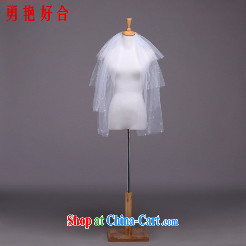 Yong-yan and new head by 2015 AND LEGAL head-dress wedding dresses with white head yarn 1.5 M head yarn white