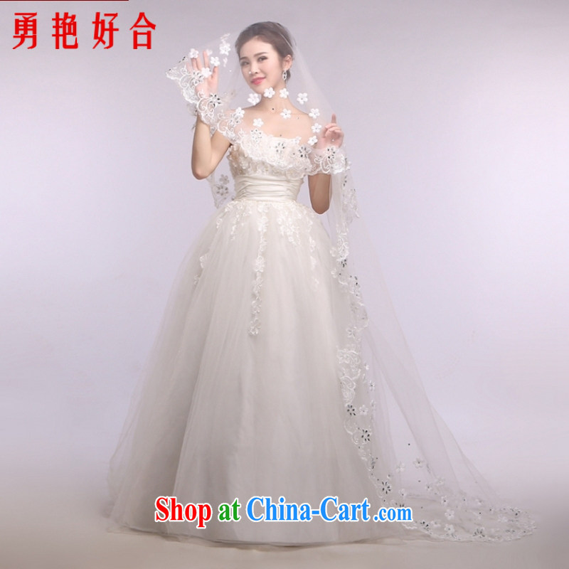 Yong-yan and wedding dresses and yarn Princess head yarn 2015 New Head yarn 3M flower parquet drill yarn white
