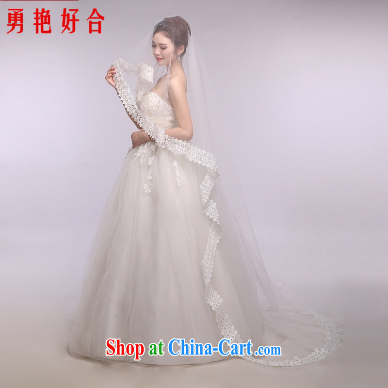 Yong-yan and 2015 new wedding dresses accessories and legal marriages and legal 3m White