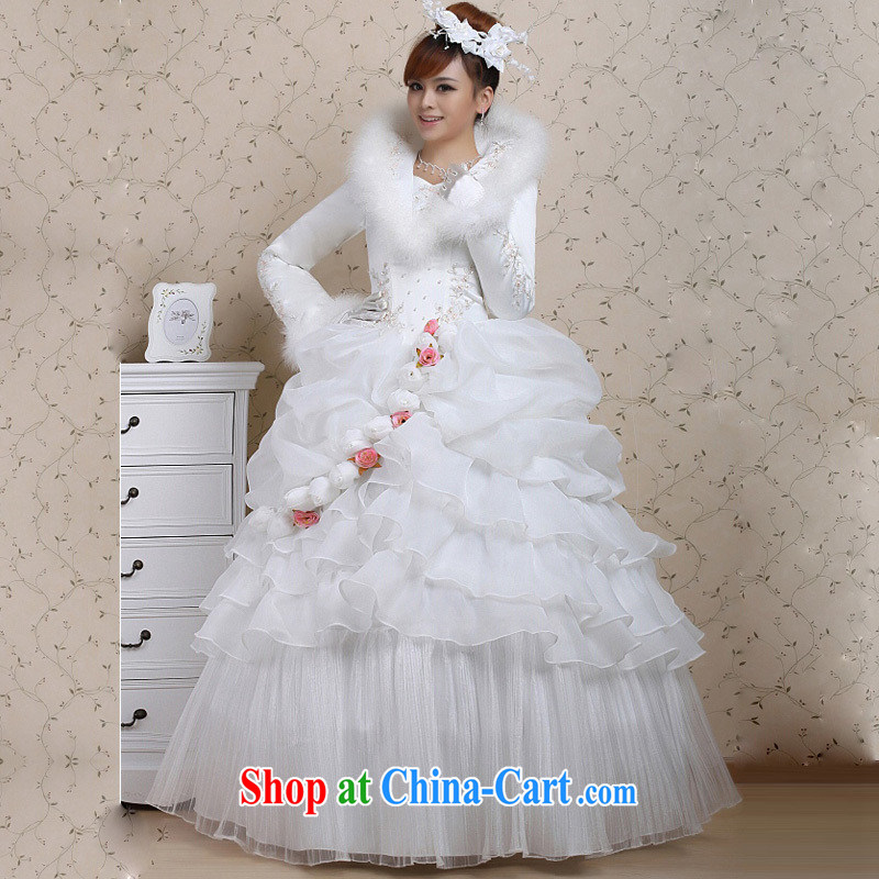 2014 new roses winter clothes wedding the cotton winter hot selling wedding dresses cheongsam customers to size up to be returned.