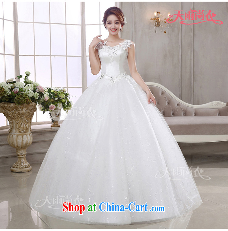Rain is still Yi 2015 marriages new bridal wedding dresses Korean tie-Princess lace water drilling shoulders wedding with HS 925 white Suzhou shipment tailored pictures, price, brand platters! Elections are good character, the national distribution, so why buy now enjoy more preferential! Health