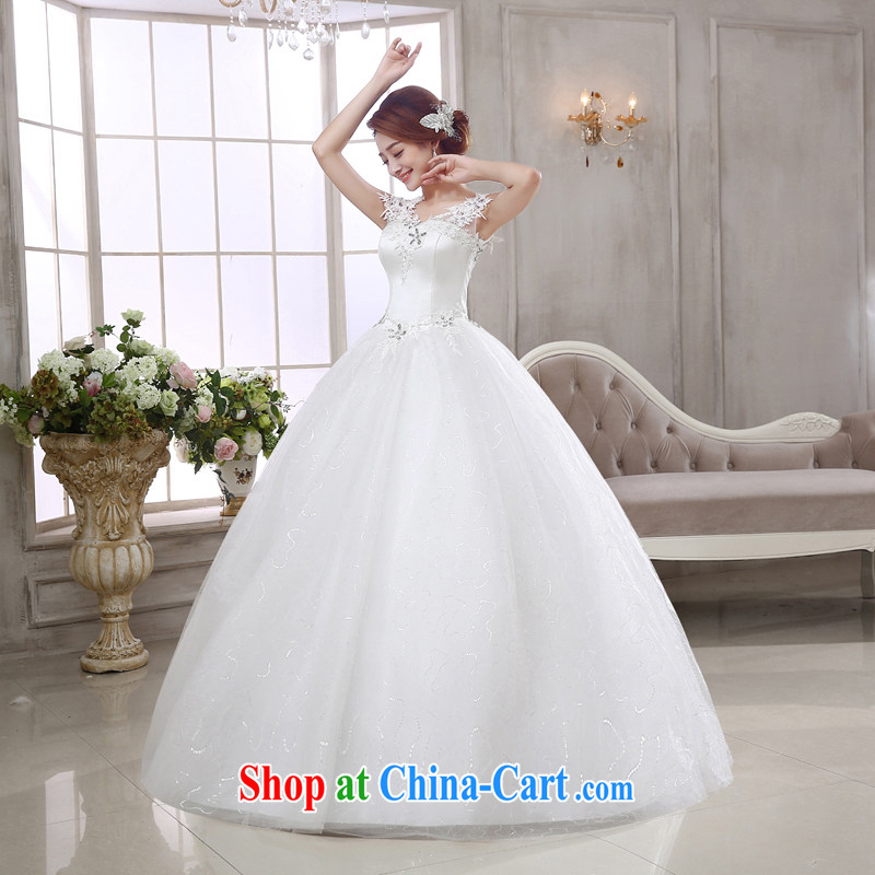 Rain is still Yi 2015 marriages new bridal wedding dresses Korean tie-Princess lace water drilling double-shoulder wedding dresses with HS 925 white Suzhou shipments, rain is still clothing, shopping on the Internet