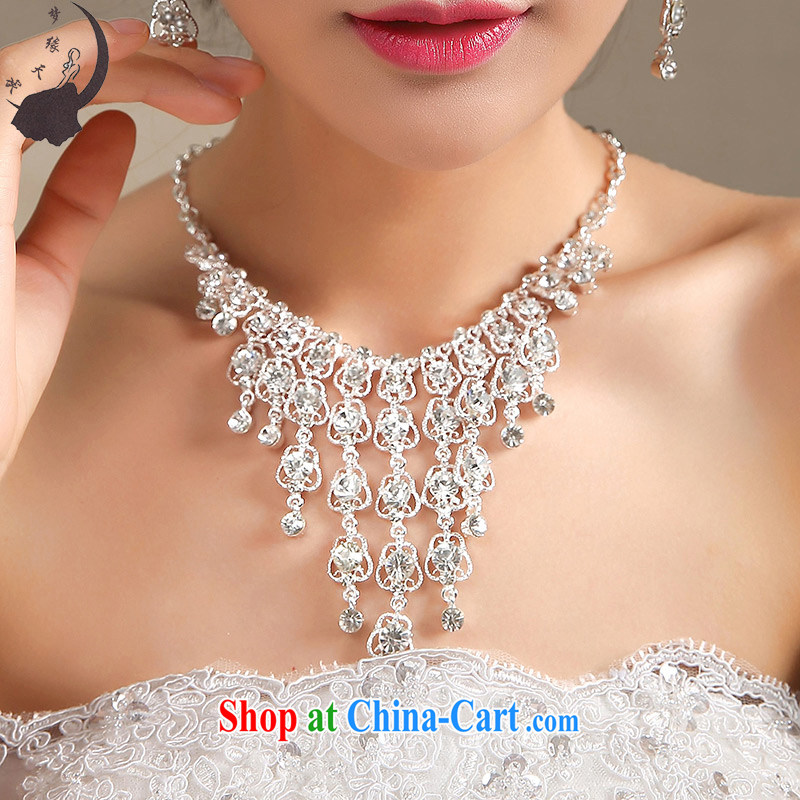 Let the day the Korean-style water drilling bridal sweet necklace wedding jewelry bridal jewelry TL 23 silver