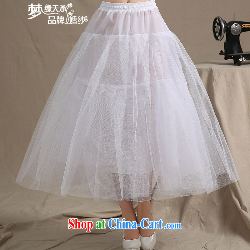 Let the day the bride's marriage to align tail wedding bone skirt stays the skirt with a princess petticoat 08 white