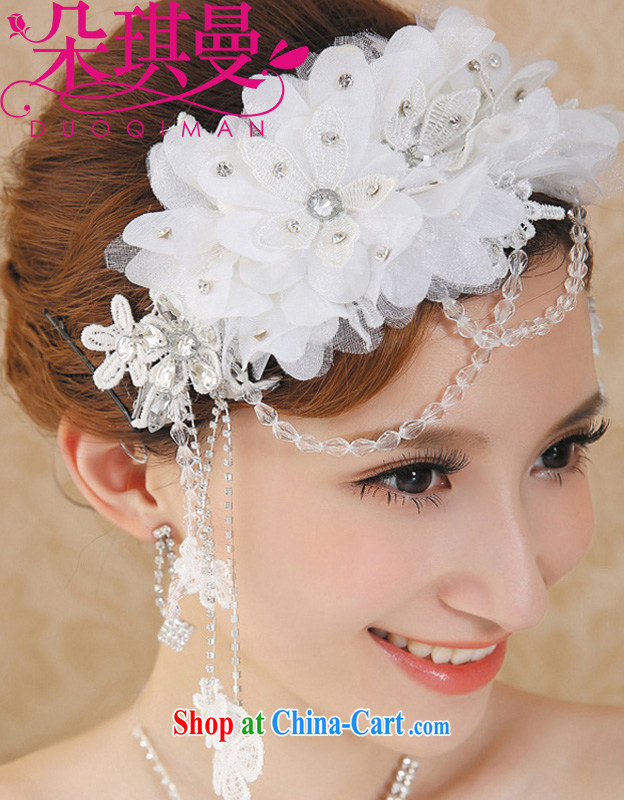 Flower-ki, Korean-style lace-kuen yarn bridal head-dress wedding dress wedding crystal, curtain-trim photo photography hair accessories