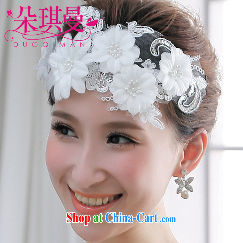 Seol Ki-hyeon flowers Cayman manual lace flowers and flower Korean bridal headdress Pearl water drilling short hair wedding hair accessories