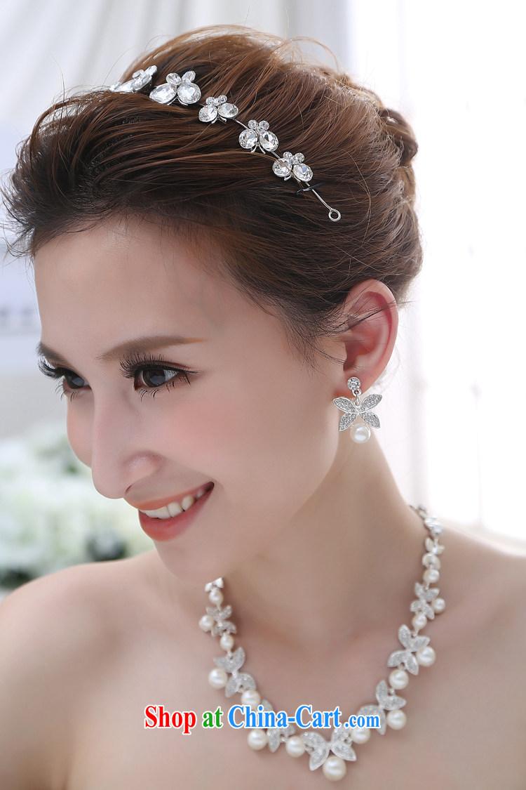 Flower-ki, bridal-jewelry forehead link water drilling Korean-style ...