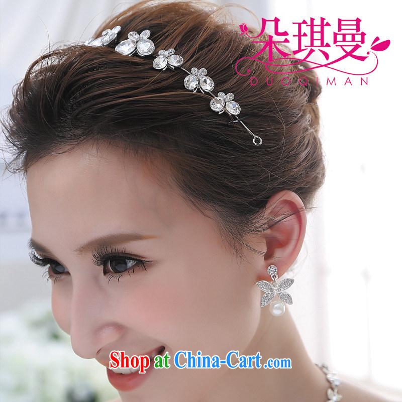 Flowerki bridaljewelry forehead link water drilling Koreanstyle