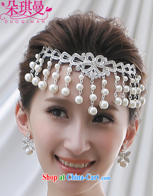 Seol Ki-hyeon flowers, bridal jewelry wholesale Pearl headdress Korean hair accessories is the mandatory marriage jewelry Korean