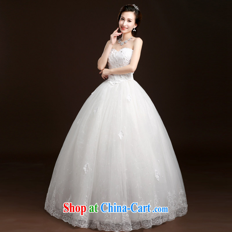 Ms Audrey EU Qi summer 2015 new wedding dresses with bridal and wiped his chest wedding band bridal wedding wedding dresses lace wedding white XL, Qi wei (QI WAVE), online shopping