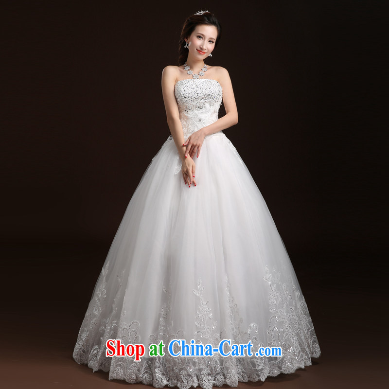 Qi wei bridal wedding dresses 2015 summer new erase chest wedding with wedding band wedding canopy skirts wedding A field skirt white XL
