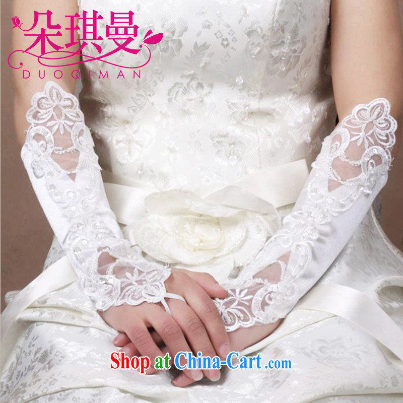 Flower Ki Cayman wedding gloves girls exposed to long lace new bridal gloves exposed to wedding gloves wholesale white