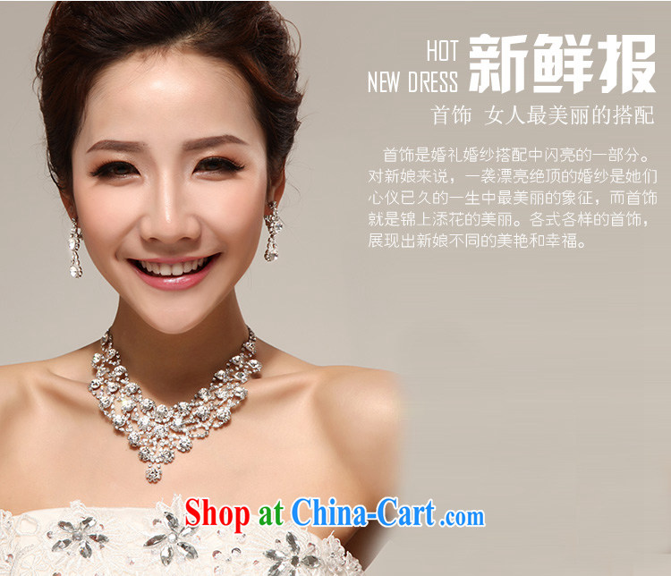 Seol Ki-hyeon flowers Norman Weddings marriage luxuriously decorated to a high standard, bridal accessories kit decorations water Drill Set chain necklace two-piece jewelry pictures, price, brand platters! Elections are good character, the national distribution, so why buy now enjoy more preferential! Health