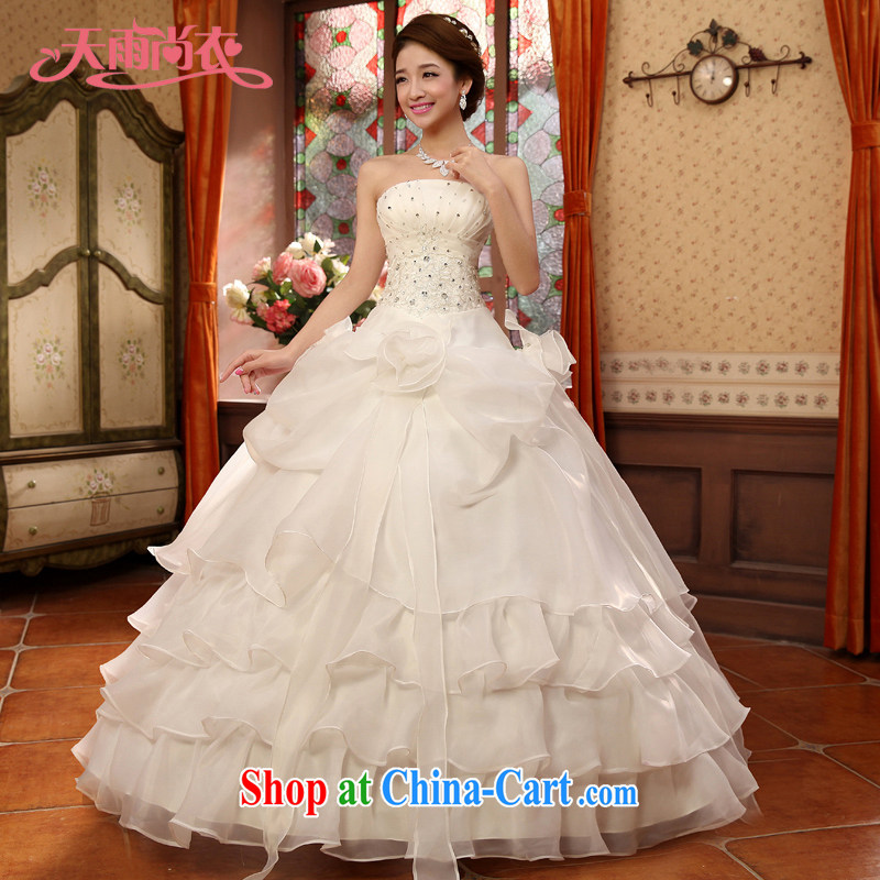 Rain is still Yi 2015 new beautiful bridal dresses romantic flowers wood drill marriage tie wedding HS 835 white tailored