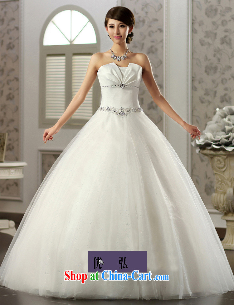 Optimize Hung-erase chest Princess skirt water drilling simple Princess wedding Satin shaggy skirts video thin bridal wedding JS 8121 m White L pictures, price, brand platters! Elections are good character, the national distribution, so why buy now enjoy more preferential! Health