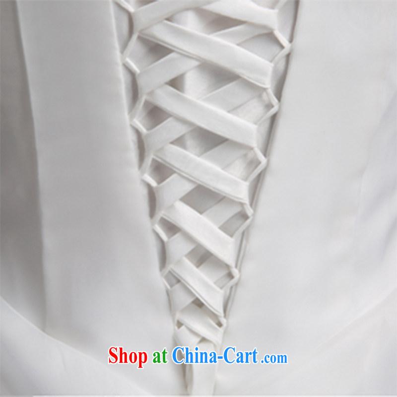 Wei Qi-tail wedding dresses 2015 summer new wipe chest wedding tail wedding wedding dresses tied with wedding, female A field dress white XL, Qi wei (QI WAVE), online shopping