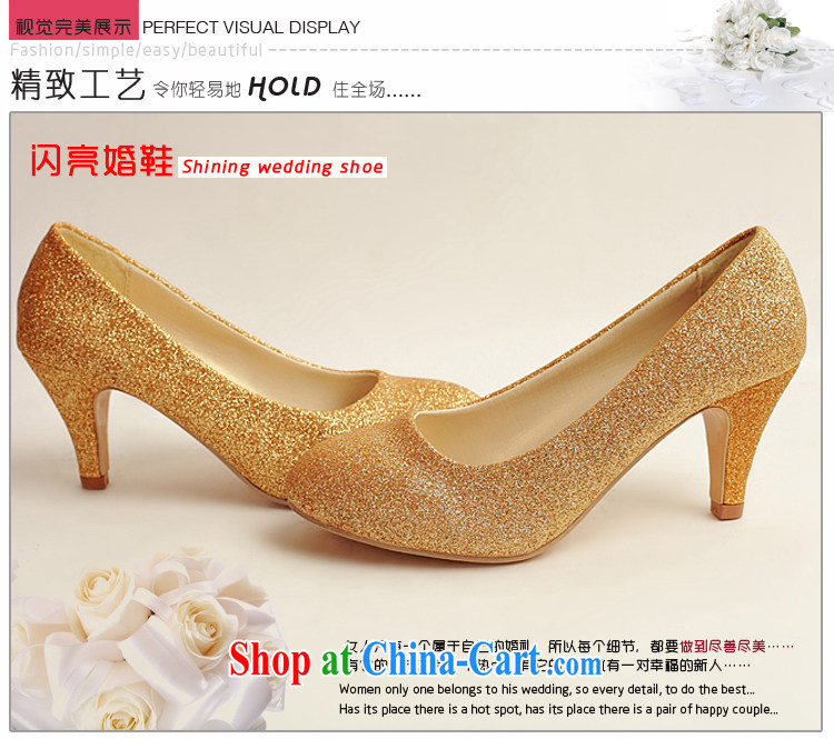 Flower Angel Cayman wedding shoes wedding shoes bridal shoes dress shoes wedding shoes Ballroom shoes high heel gold performance shoe stage shoes gold 37 pictures, price, brand platters! Elections are good character, the national distribution, so why buy now enjoy more preferential! Health