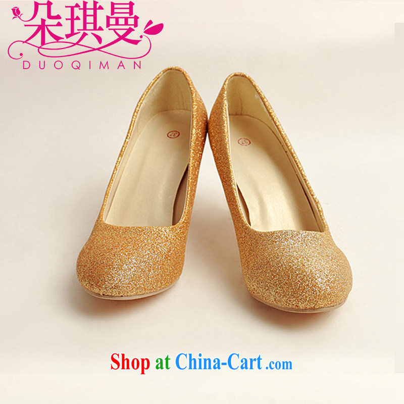 Flower Angel Cayman wedding shoes wedding shoes bridal shoes dress shoes wedding shoes Ballroom shoes high heel gold performance shoe stage shoes gold 37
