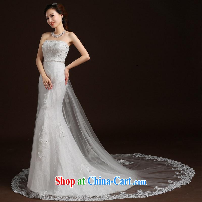 Qi wei summer 2015 new wedding dresses bride's bare chest wedding crowsfoot wedding band wedding tail wedding video skinny trailing white XL, Qi wei (QI WAVE), online shopping