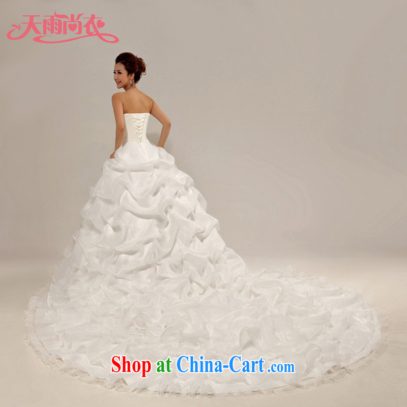 Rain is still Yi marriages 2015 new large, Princess the tail strap wedding HS 828 white tailored