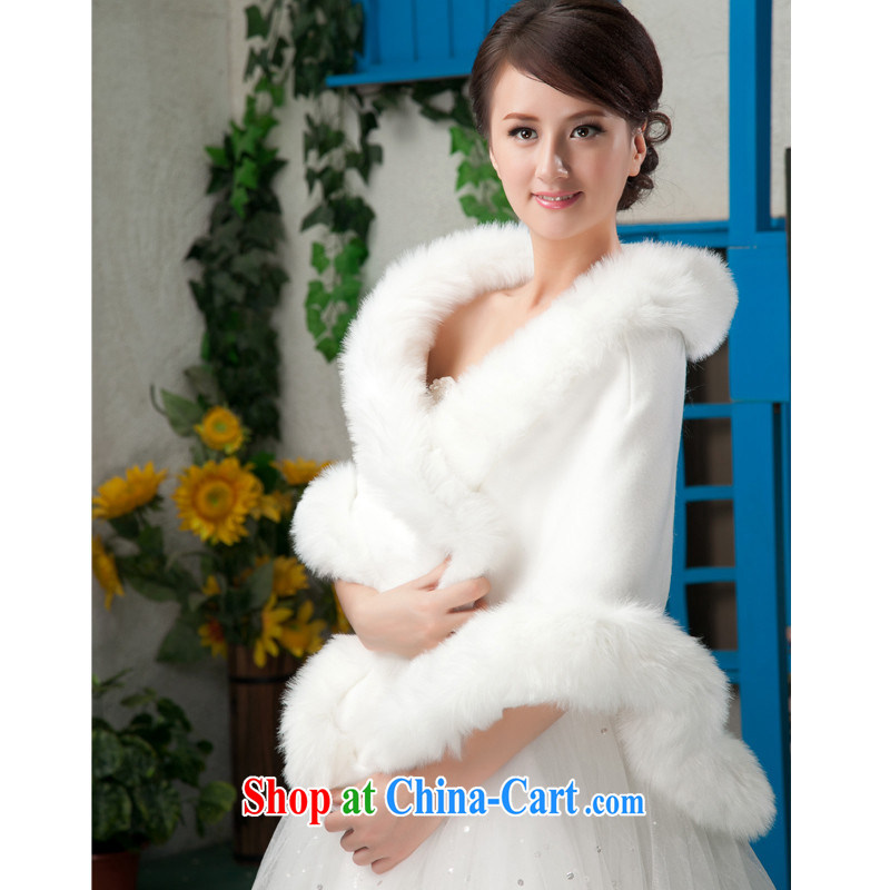 Increase bridal hair shawl Ruili emulation rabbit hair Elegant Full continental-wide shawl gross white wedding hair shawl 1105
