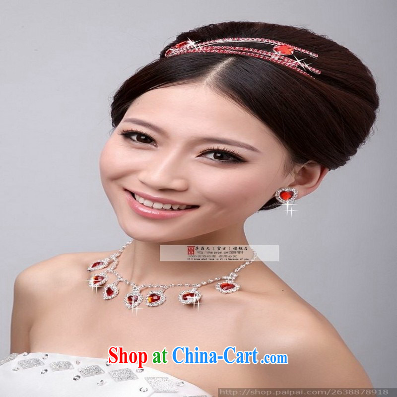 2014 new Korean marriages Pearl Pearl Light drill crystal Crown earrings necklace set TZ 0001