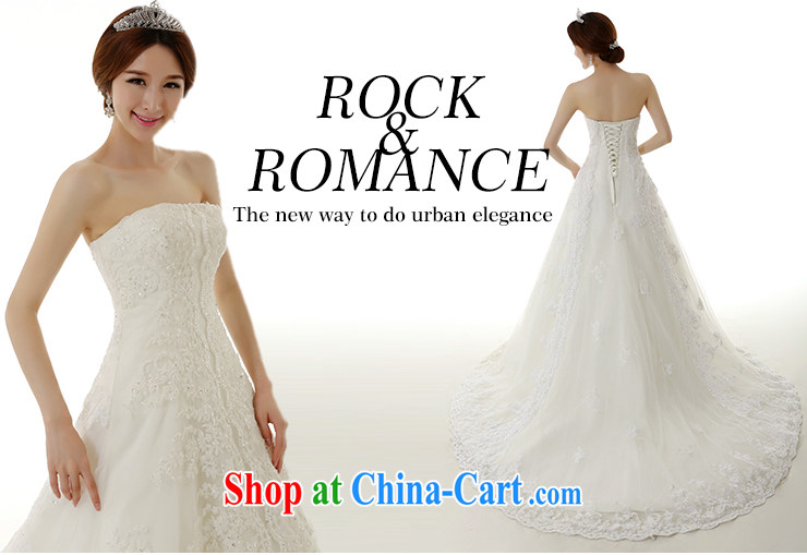 Dirty comics 2015 spring and summer new stylish Korean wiped chest lace large tail wedding dresses Korean Beauty Princess bride tied with lace-tail wedding dresses white tailored pictures, price, brand platters! Elections are good character, the national distribution, so why buy now enjoy more preferential! Health