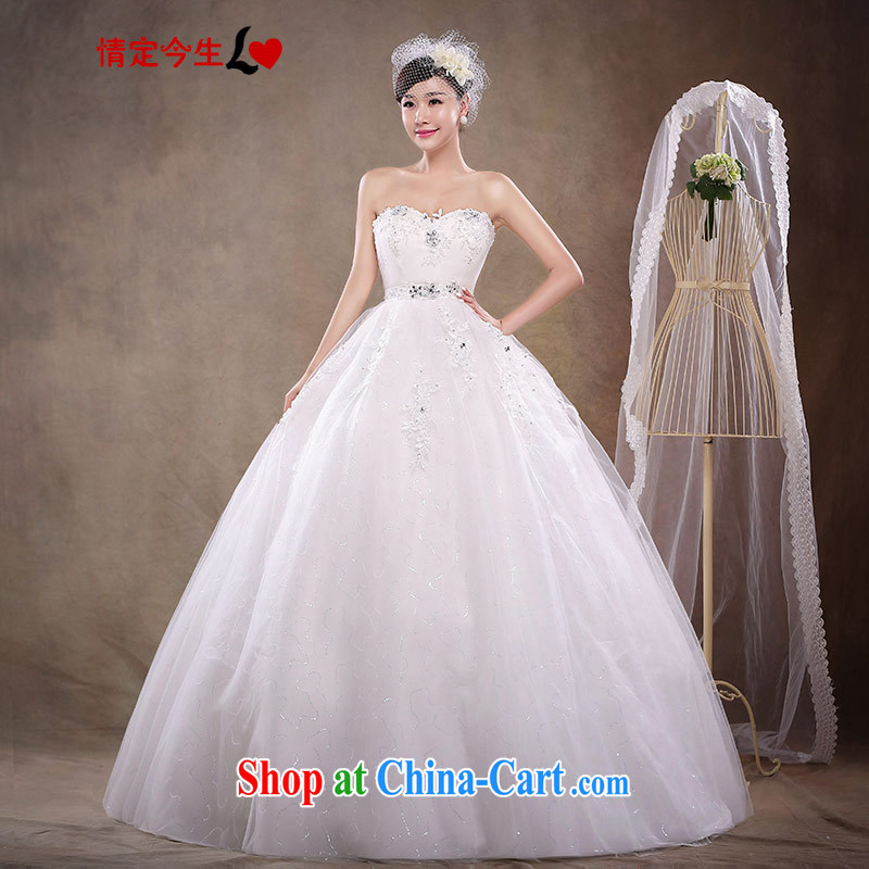 Love Life 2015 new, pregnant women, the Princess Mary Magdalene Korean chest-strap wedding dresses high-waist and stylish bride Korean version with white XXL