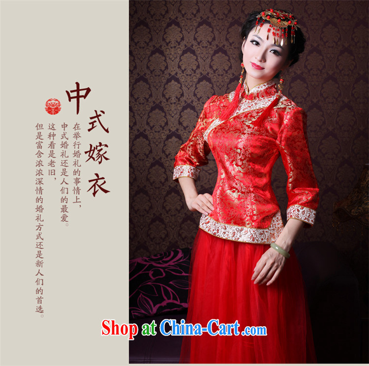 2014 new autumn and winter clothes wedding dress red traditional cuff wedding bridal dresses bows service 2146 21,467 sub-cuff XL pictures, price, brand platters! Elections are good character, the national distribution, so why buy now enjoy more preferential! Health