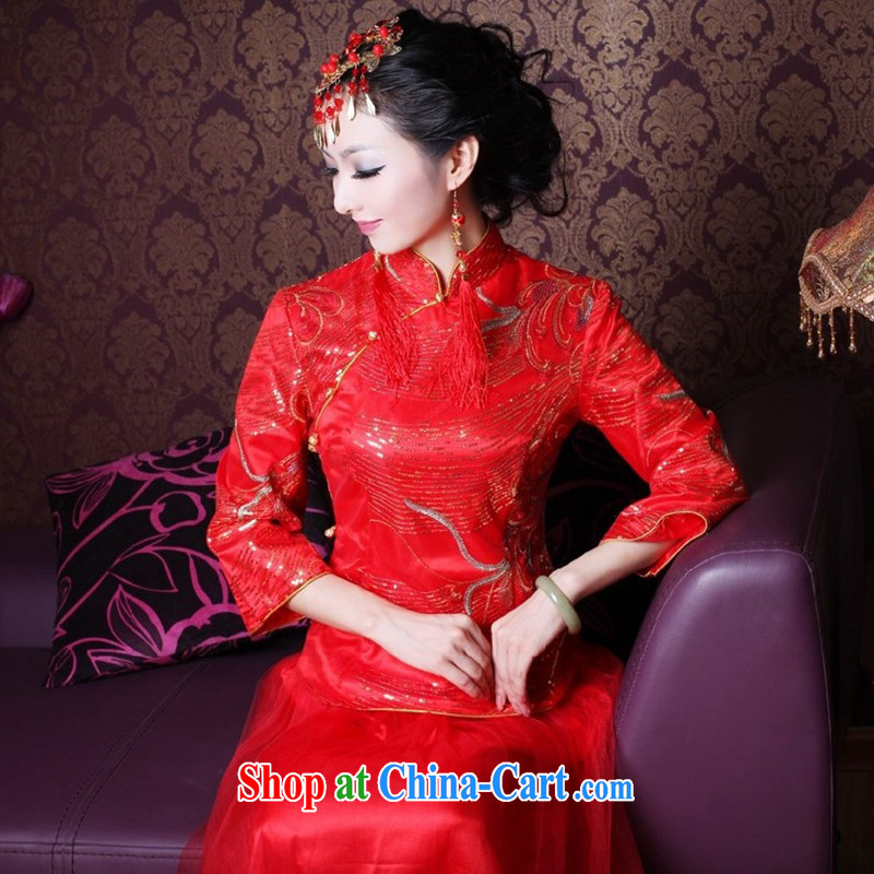 ruyi, 2015 new embroidery, bridal cheongsam dress Kit improved festive wedding dresses 2145 2145 the dress XXL