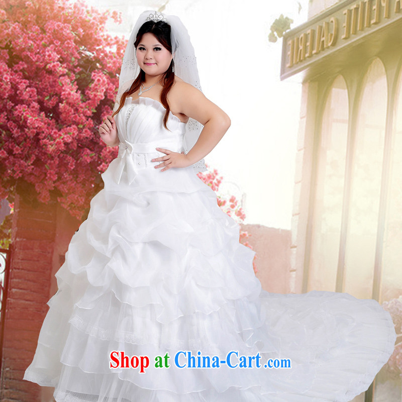 Moon ? guijin 2013 new wedding dresses larger wedding lace tail beaded wedding BHS 51m White M white tail XXL scheduled 3 Days from Suzhou shipping