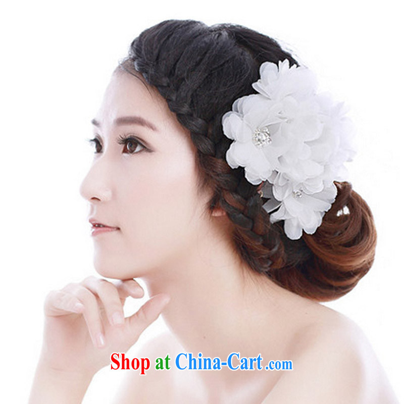 MSLover incense floating Jasmine flower smile and bride-kuen yarn three-dimensional flowers wood drill crystal and take manual head-dress HA in 131,004 _4 only_ Red