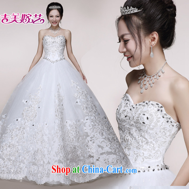 wedding dresses Jimmy married arts 2015 new erase chest lace shaggy skirts HS 7510 bridal wedding ivory 1.5M tail XXL